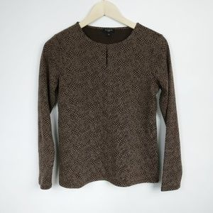 TALBOTS Petites Womens Brown Top Size Small SP